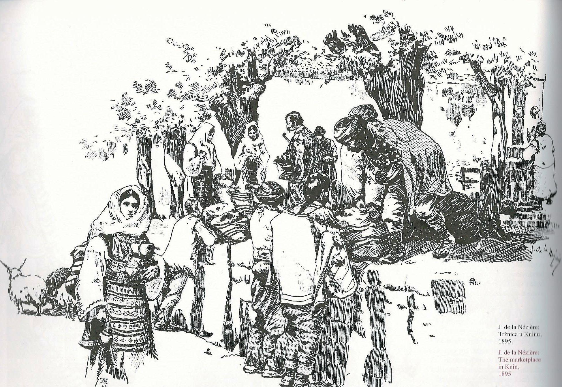 j-de-la-neziere-trznica-u-kninu-1895
