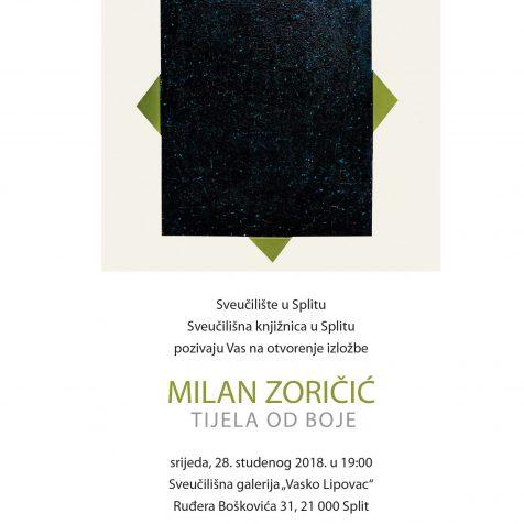 U srijedu otvorenje izložbe Milana Zoričića u Sveučilišnoj galeriji u Splitugall-1