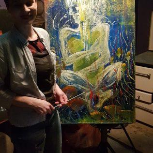 Foto: Fantastični spoj slikarstva uživo (Ton art) i glazbe (koncert Seven Mouldy Figs) u A3gall-5