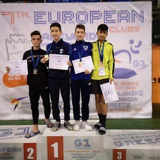 Mateo Pratljačić brončani na Europskom klupskom prvenstvu u taekwondougall-0