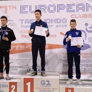 Mateo Pratljačić brončani na Europskom klupskom prvenstvu u taekwondougall-1