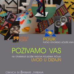 Foto: Završio Zoričićev tečaj o dizajnu; U utorak izložbagall-17
