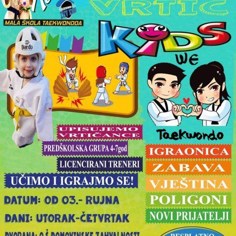 Taekwondo klub DIV Knin upisuje vrtićku skupinu: Učimo i Igrajmo se!gall-1
