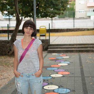 Na inicijativu Grada umjetnica Amanda Tica oslikala motoričke staze ispred školagall-2