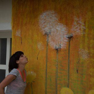 Na inicijativu Grada umjetnica Amanda Tica oslikala motoričke staze ispred školagall-13