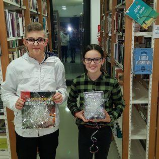 U knjižnici održano Natjecanje u čitanju naglas; Pobjednici Duje Brečić i Lana Sigutgall-0