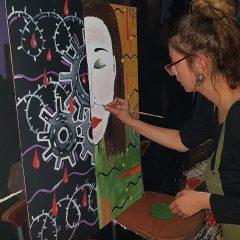 Za vrijeme koncerta umjetnice slikale i poslale poruku – Pravda za djevojčicegall-3