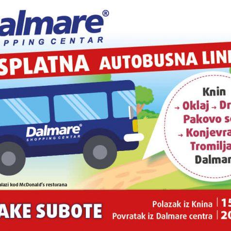 Dalmare shopping centar ponovno uvodi besplatne autobusne linije iz Kninagall-0