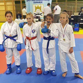 Šest medalja za Karate klub Knin na Dalmacija openugall-2