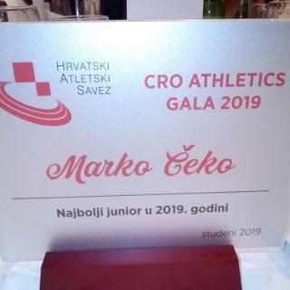 Hrvatski atletski savez: Marko Čeko proglašen najboljim juniorom Hrvatskegall-4
