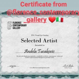Kninjanka Anđela Tucaković izabrana da predstavi svoje radove na web platformi Firentinske suvremene galerijegall-1