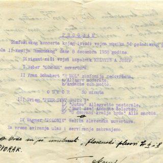 Pogledajte plakate, programe i utiske sa simfonijskih koncerata u Kninu 1938. i 1939. godinegall-1