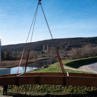 Foto: Danas se postavlja pješački most na Orašicigall-1